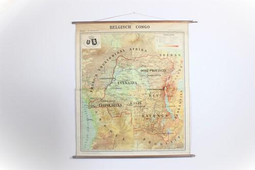 thumbnails bij product wall map of Belgian Congo