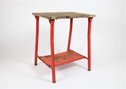 thumbnails bij product industriële tafel in hout en metaal