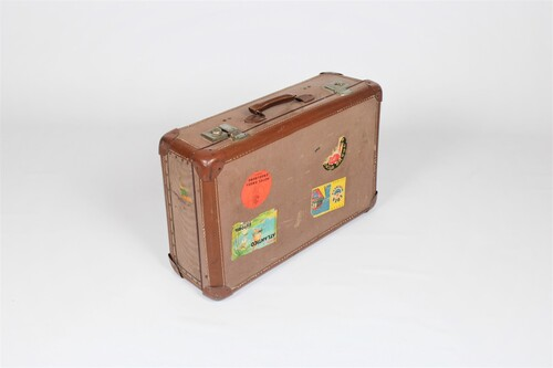 thumbnails bij product vintage suitcase with stickers