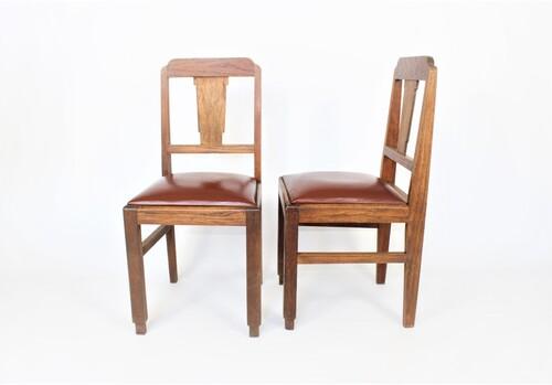 thumbnails bij product 6 houten Art Deco stoelen