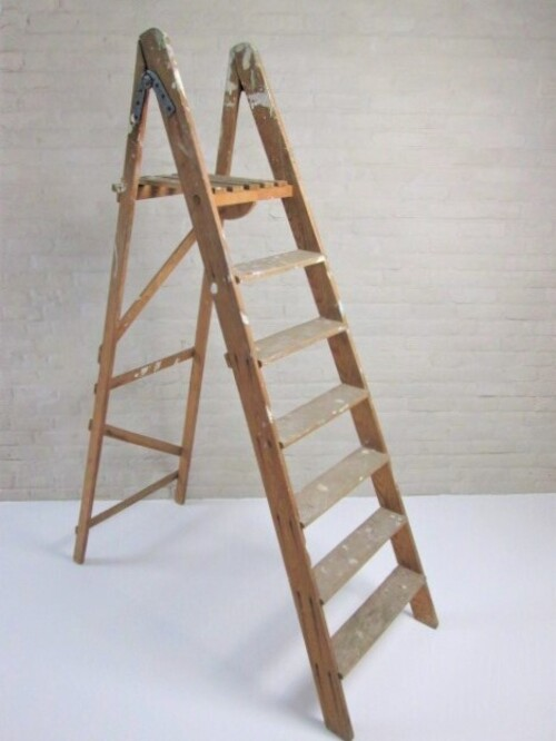 thumbnails bij product old step ladder