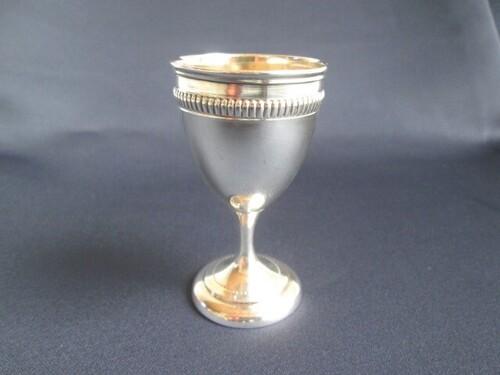 thumbnails bij product silver egg cup Delheid