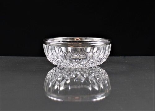 thumbnails bij product Val-St-Lambert crystal bowl with silver ring, Delheid