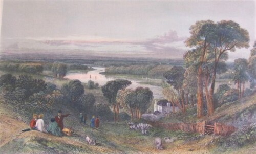 thumbnails bij product gravure: View from Richmond Hill, 1832
