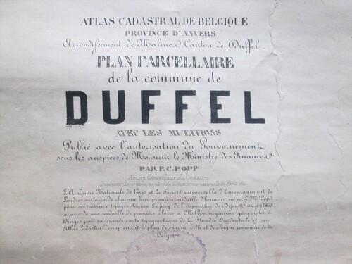 thumbnails bij product carte Popp de Duffel, 19° siècle (1)