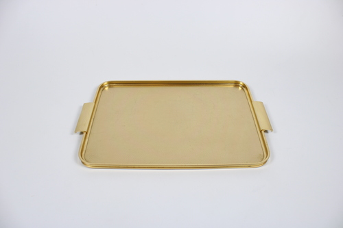 thumbnails bij product Vintage gold serving tray, Woodmet