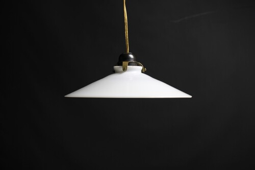 thumbnails bij product Old lamp with opaline lamp shade