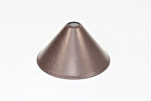 thumbnails bij product oude bruine metalen lampenkap