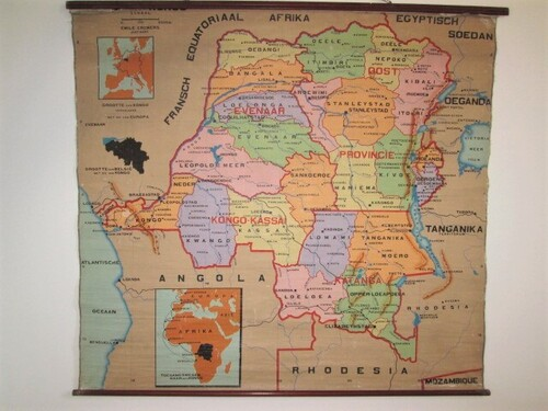 thumbnails bij product ols school map of Congo