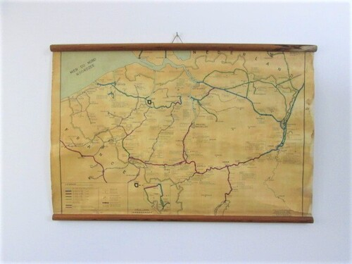 thumbnails bij product old chart: canals and rivers in Belgium