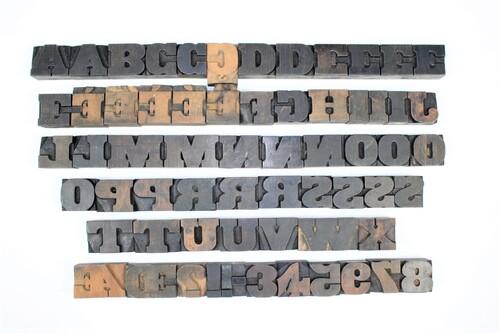 thumbnails bij product Old letterpress blocks