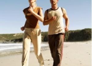 Joggen op het strand