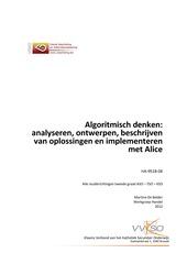 Algoritmisch denken met Alice