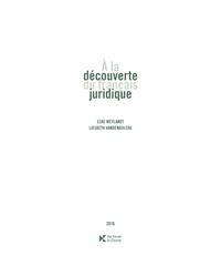 A la découverte du Français juridique