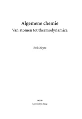 Algemene chemie Van atomen tot thermodynamica