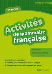 Activités de grammaire français 1