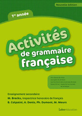 Activités de grammaire française - 1re année