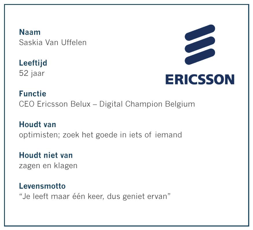 Saskia Van Uffelen, CEO Ericsson Belux - Digital Champion Belgium