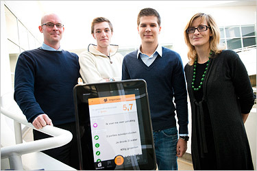 The Improver app: Wouter Goris (Ready2improve), Dieter De Mesmaeker, Jonathan Provo and Dr. Vero Vanden Abeele