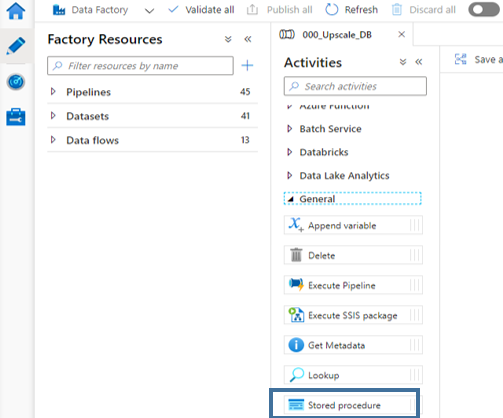 autoscaling azure sql database choose stored procedure data factory adf