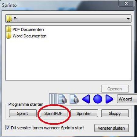 Startknop SprintPDF